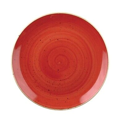 Churchill Stonecast Round Coupe Bowl Berry Red 248mm - DB064