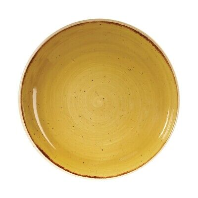 Churchill Stonecast Round Coupe Bowl Mustard Seed Yellow 248mm - DF787