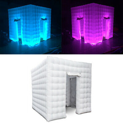 2 Door Inflatable LED Light Photo Booth Tent Christmas Wedding Party Adults&Kids