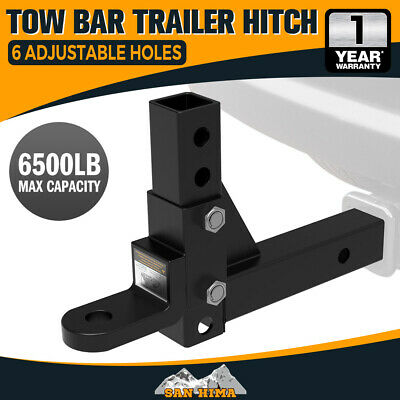 "【20%OFF】Adjustable Towbar Tow Bar Ball Mount 2"" Hitch Towing Trailer 4WD Car"