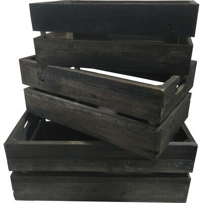 NEW 3 Piece Aged Crate Set - HighST.,Boxes & Baskets