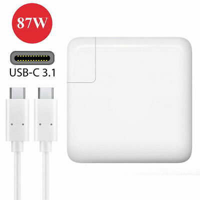 Apple MacBook 87w USB-C Power Adapter Charger with USB-C Cable OEM Compatible