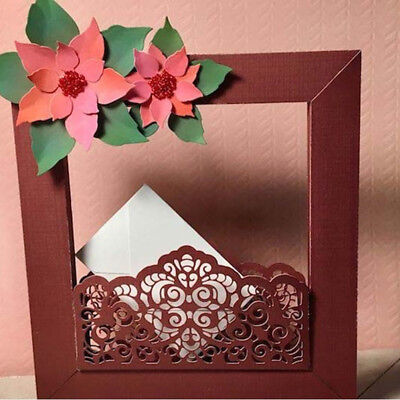 happy frame Design Metal Cutting Die For DIY Scrapbooking Album Paper Cards  Z~