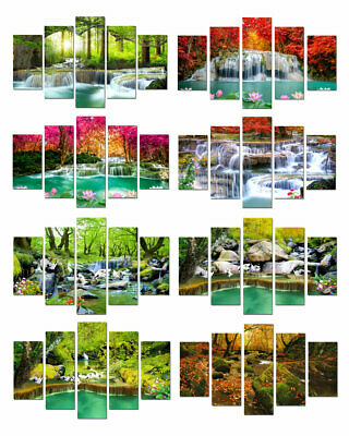 Waterfall Landscape Print Painting Canvas Wall Art Picture Living Room Deco Gift