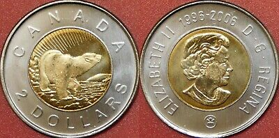 Brilliant Uncirculated 2006 Canada Churchill 2 Dollars From Mint's Roll