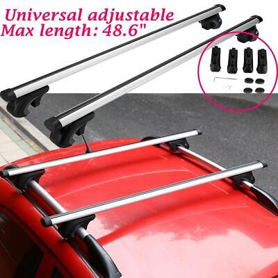 "49"" INCH Universal Aluminum Car Top Roof Rack Cross Bar Luggage Carrier W/Lock"