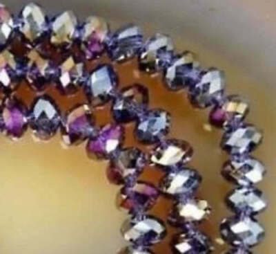 Diy Jewelry 96pc 4*6mm Faceted Rondelle glass crystal Beads purple Red