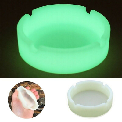 Glow In The Dark Luminous Silicone Ashtray For Smoking Cigarette Cigar Pipe New