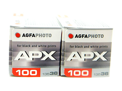 2 x AGFA APX PROFESSIONAL100 35mm 36exp CHEAP B&W FILM DISCOUNTS ON MULTI BUYS