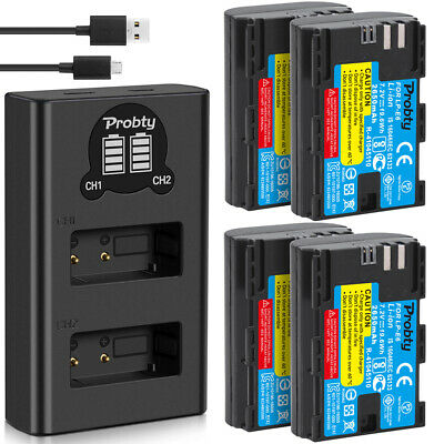 LP-E6 Battery or Dual Charger for Canon EOS 5D Mark III II 80D 60D 70D 6D 7D 5Ds