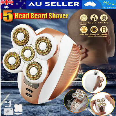 5 Head Rechargeable Men Women Electric Shaver Razor Trimmer Clipper Bald Hair