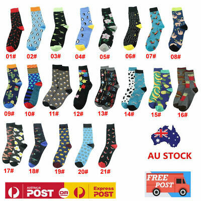 Mens Women Cool Food-Animal Hip Hop Crew Novelty Socks Funny Street Harajuku