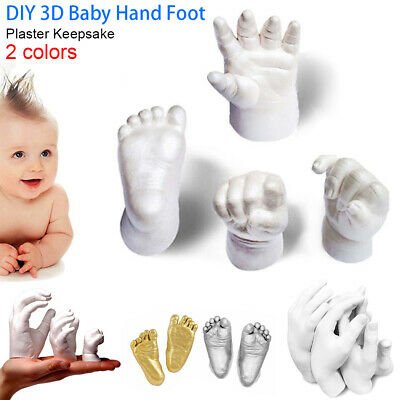 Baby Foot Newborn Print 3D Plaster Kids Inkless Alginate Casting Mould AU STOCK