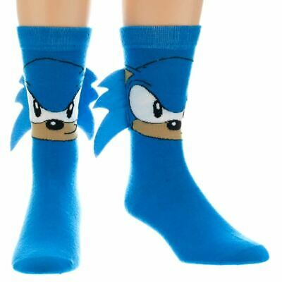 Sonic the Hedgehog Adult Blue Crew Sock with Spikes - One Size 6-11 SEGA Cosplay