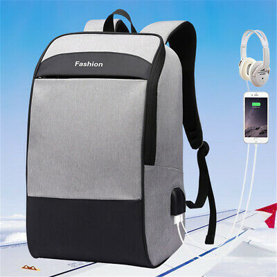 🔥Anti-theft Laptop Notebook Backpack USB Charge Port School Travel Bag Rucksack