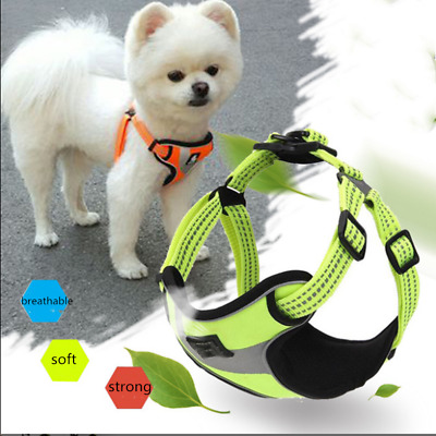 No-pull Adjustable Dog Pet Vest Harness Reflective Padded For Outdoor Adventure