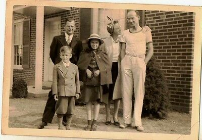 Old Vintage Antique Photograph Cool Looking Bunch of People Great Outfits