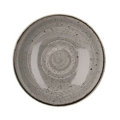 Churchill Stonecast Round Coupe Bowl Peppercorn Grey 220mm - GM687