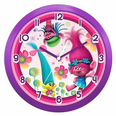 Trolls Poppy and Friends Bedroom Wall Clock - Boxed Play Room Accessories