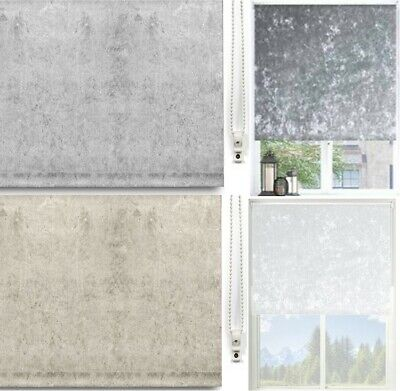 Thermal BLACKOUT CRUSHED VELVET Roller Blinds 5 Width 2 Designs 3 Colours