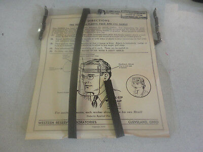 Amazing 1942 Western Reserve Laboratories All Plastic  Face and Eye Shield