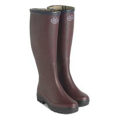 Le Chameau Womens Ladies Giverny Red Wellies Wellington Boots Size 4-7