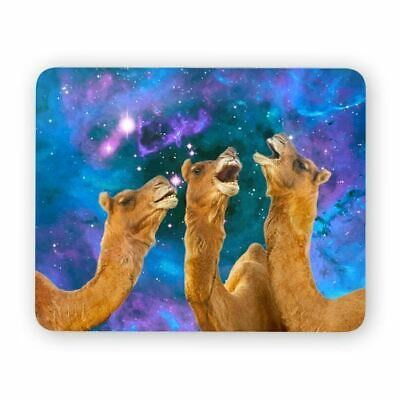 Laughing Camels Space Mouse Pad