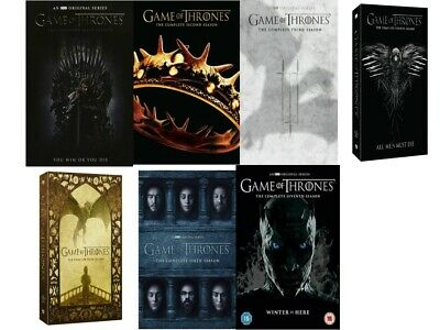 Game of Thrones ALL Season 1-7 Complete DVD Set Collection Series TV Box Lot HBO