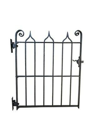 Antique Wrought Iron Pedestrian Gate -  Gothic Style - Driveway Entrance