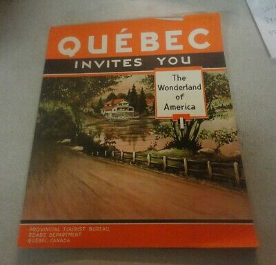 1936 QUEBEC,Canada Invites You Travel Brochure