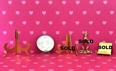 Dollhouse Miniature Plate Stands - Brass - 1:12 Scale - Choice of One