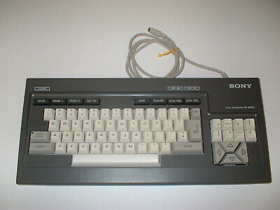 Sony Editing Title Keyboard KI-9700 Excellent Condition for RM-E9700  BOX#3S