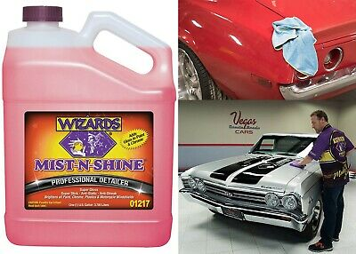 Wizards Mist-N-Shine Detailer High Gloss Car Detailing Surface Cleaner Spray New
