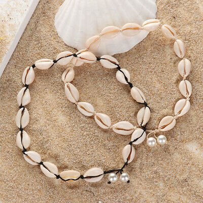 Fashion Boho Jewelry Rope Chain Beach Choker Seashell Necklace Natural Shell