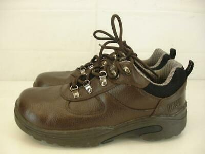 Mens 9 M Drew Boulder Waterproof Brown Leather Hiking Boots Shoes Orthotic Depth
