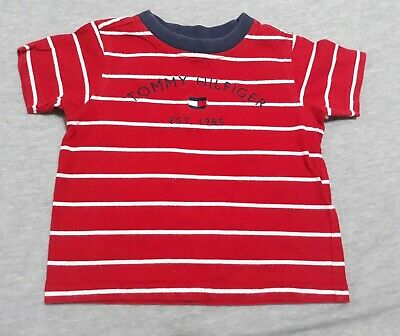 Boys Shirt Short Sleeves Tommy Hilfiger Red Size 2 T Free Shipping