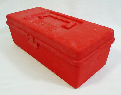 Vintage Oxwall Tool Company Red Plastic Multipurpose Hobby Craft Carry Case