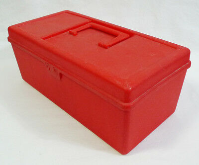 Vintage Action Industries Red Plastic Multipurpose Hobby Craft Carry Case