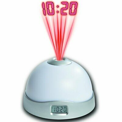Projection Digital LCD Snooze Alarm Clock Display with 7 Color Mood Changing