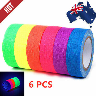 Fluorescent Gaffer Cloth Tape, UV Blacklight Reactive Fluorescent / Neon Gaffer