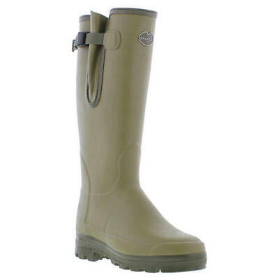 Le Chameau Vierzonord Mens Green Neoprene Lined Wellies Wellington Boots 7-12