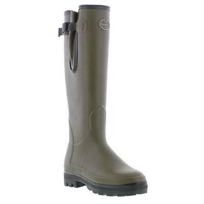 Le Chameau Vierzonord Womens Green Neoprene Wellies Wellington Boots Size 4-7