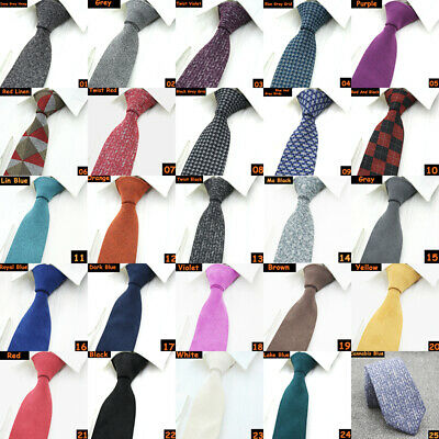Mens Classic Skinny Narrow Solid Tie Slim Party Wedding Jacquard Woven Necktie