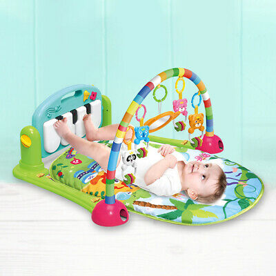 4 in 1 Baby Toddlers Piano Safari Gym Kick Lay Play Baby Fitness Playmats Toy UK
