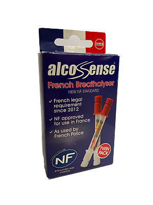 Alcosense NF Alcohol Car Travel Breathalyser Tester x2 Pack France Legal French