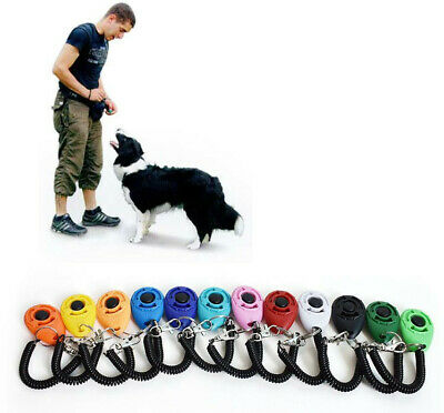 Pet Training Clicker Dog Training Clicker Trainer Teaching Tool For Dogs Puppy#