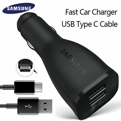 Fast Car Charger Adaptive Cable For Samsung Galaxy S8 S9 Plus Note Black