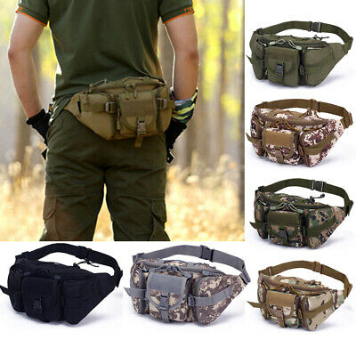 Utility Tactical Men Waist Bag Pack Pouch Military Camping Hiking Belt Bag  AU