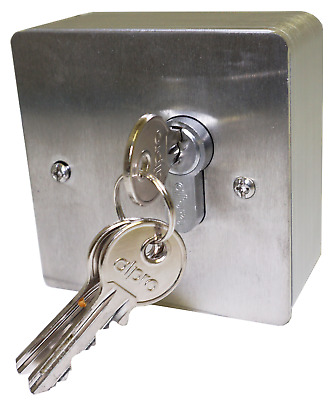 Brushed Stainless Steel Electronic Key Switch Housing - Heavy Duty 3mm
