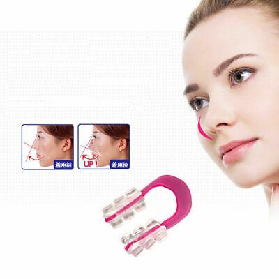 2X Silicone Clamp Clip Reshape Nose Up Lifting Shaping Shaper Rhinoplasty S E6V6